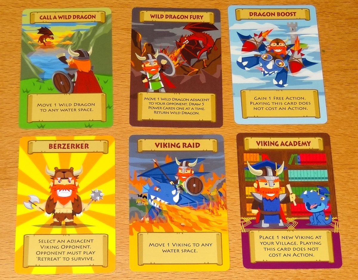 Vikings of Dragonia Power cards