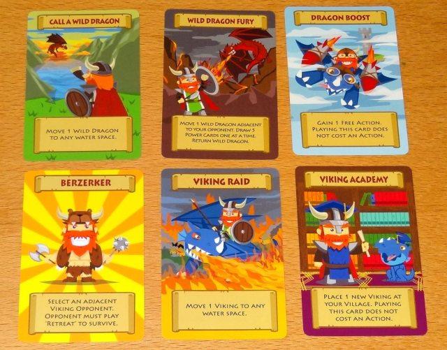 Vikings of Dragonia Power cards
