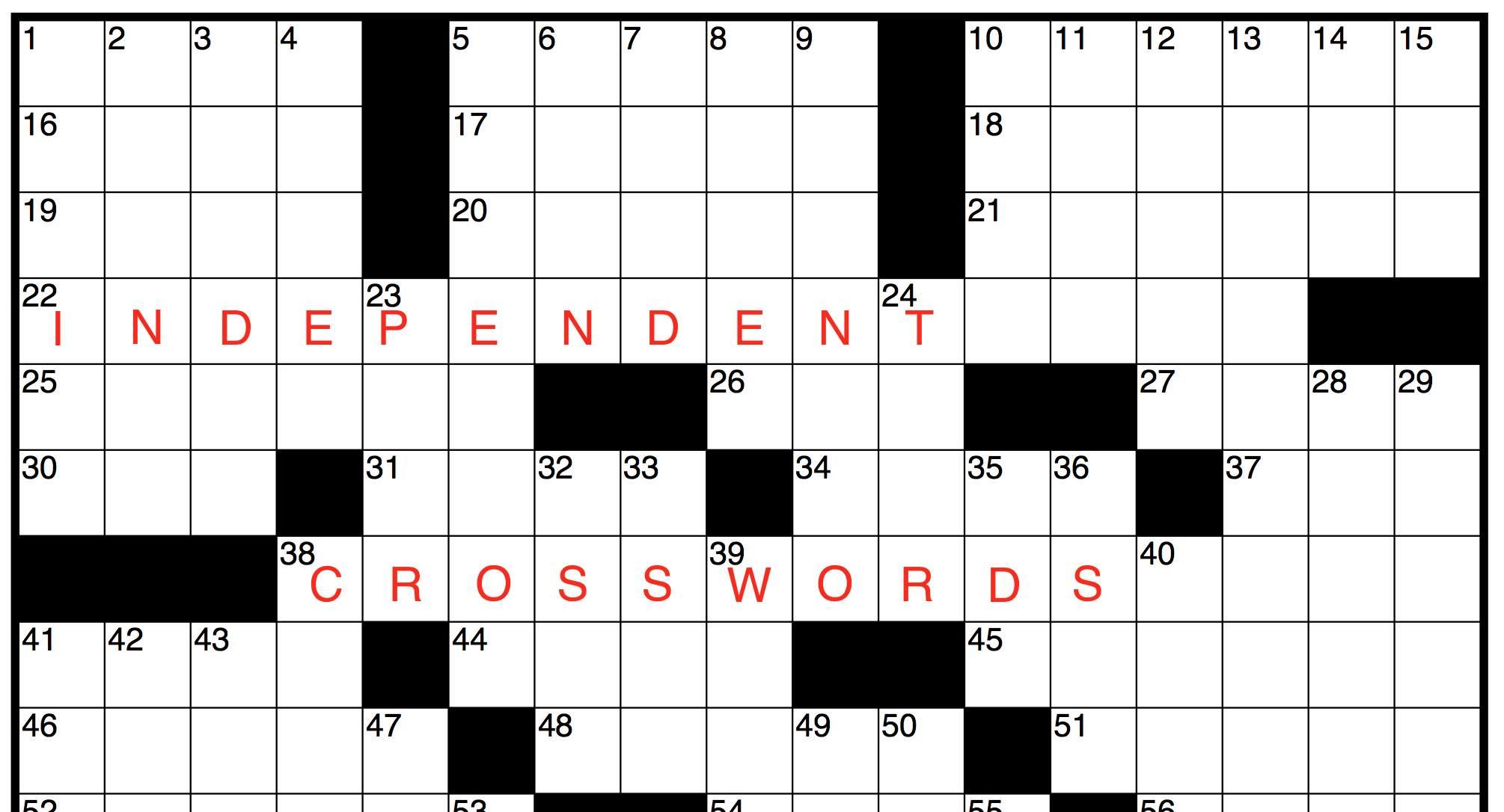 Indie Crosswords