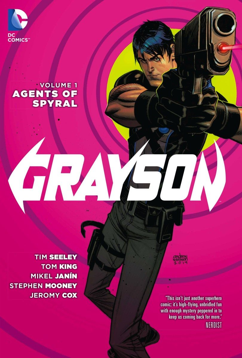 Grayson, volume 1 cover image, courtesy of DC Comics