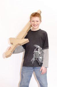 The Zelda Master Sword, mid-construction