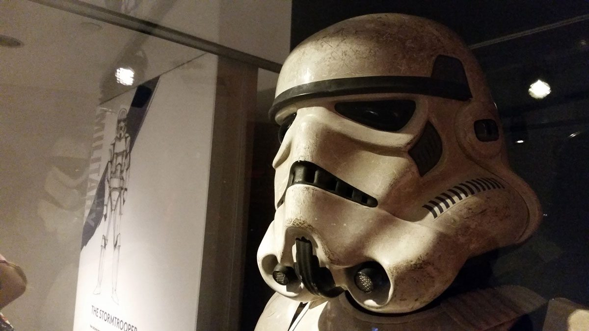 An Imperial Stormtrooper. Photo by Rob Huddleston.