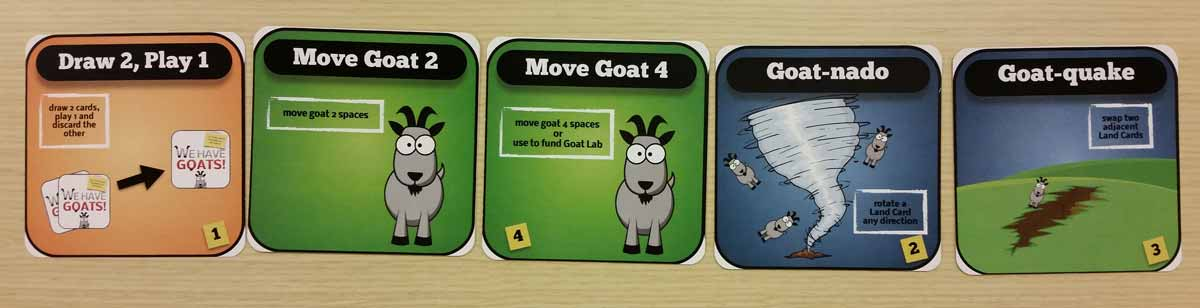 Sample of some of the cards from 'We Have Goats'. Image by Rob Huddleston.