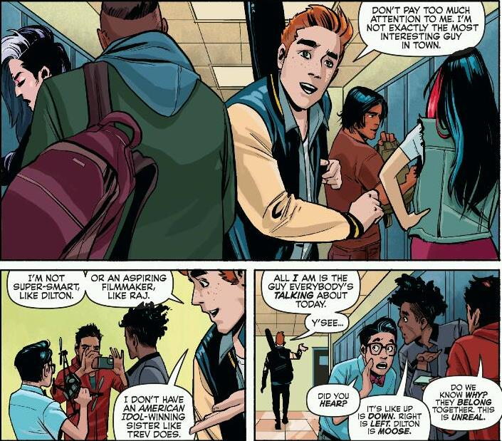 Looking more like a real HS than any other issue of Archie. Copyright: DC Comics.