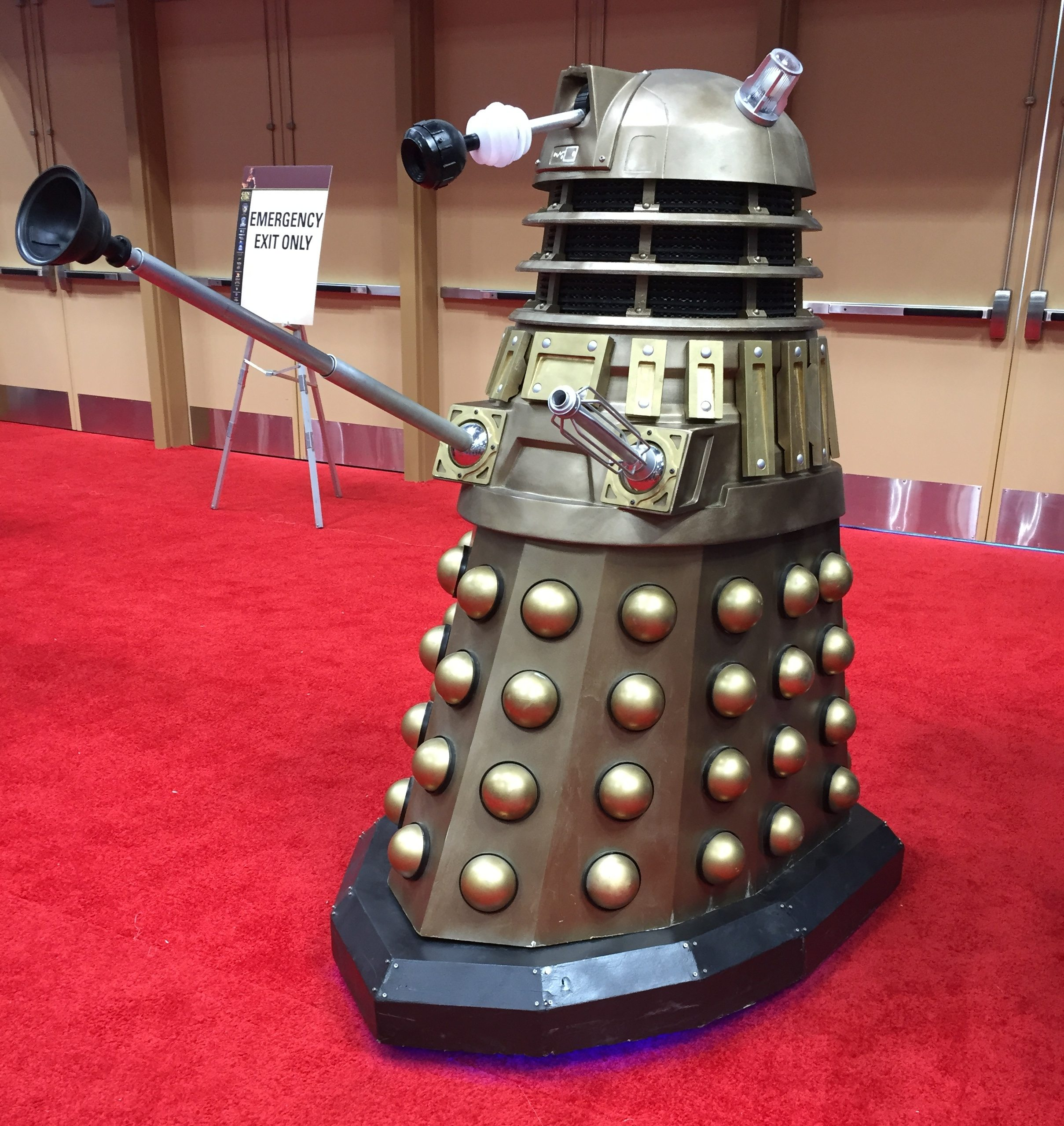 The Dalek at the Dr. Who merchandise booth is a staple of GenCon