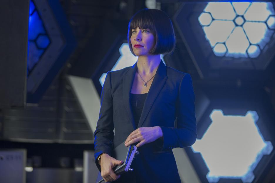 Hope Van Dyne (Evangeline Lilly) suited up for battle. Photo © Disney-Marvel