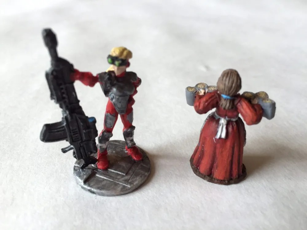 Two Painted Reaper Bones Miniatures
