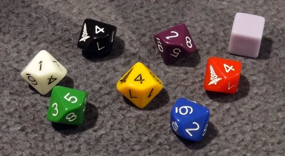 Space Movers dice