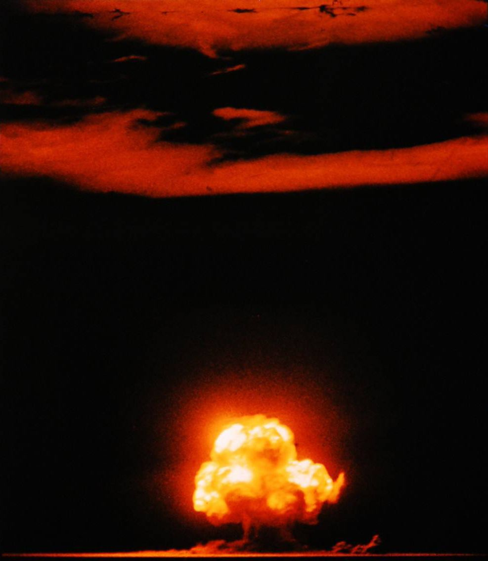 Trinity Mushroom Cloud in color. Image courtesy trinityremembered.com