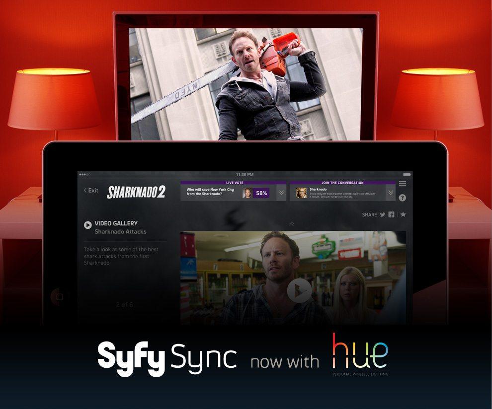 Syfy Sync + Hue w/ Sharknado Image Credit: Syfy