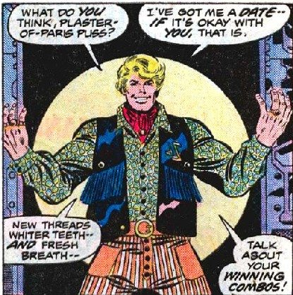 Thankfully, they did not lift his fashion sense from the classic comics. Copyright Marvel Comics.