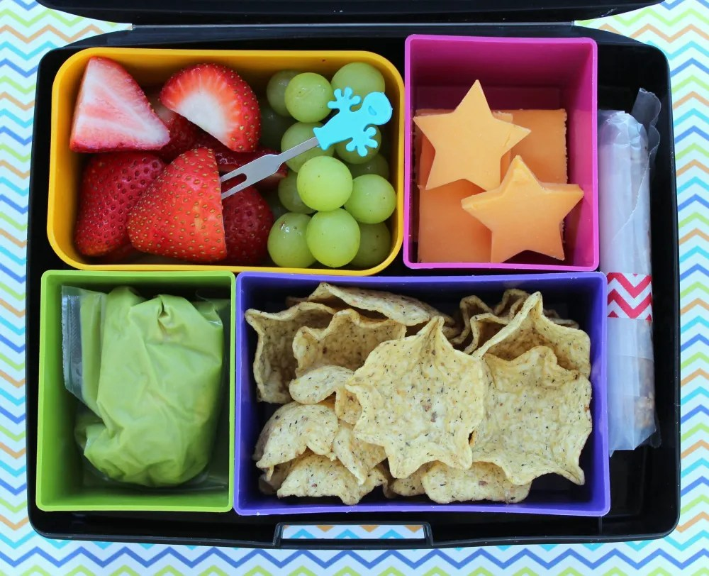 Here is a much less complicated bento box lunch, but it's still attractive and fun to eat. Laptop Lunches Bento Box by Flickr user Melissa CC by 2.0