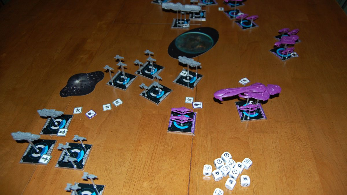 'Halo: Fleet Battles' mid-game. Photo by Rob Huddleston.