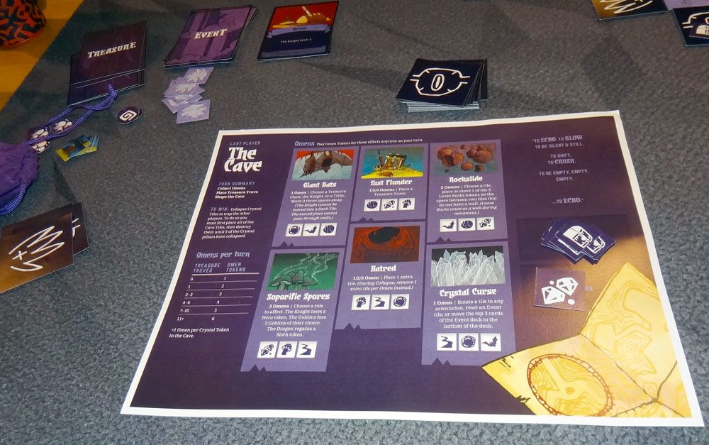 Cave player board