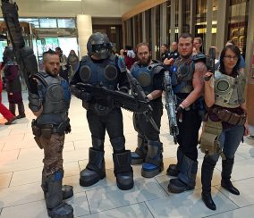 Great Gears of War group cosplay.