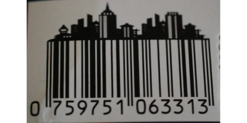Even the barcode helps set the mood. Photo: Jenny Bristol