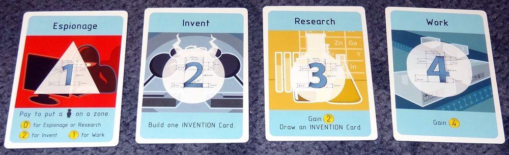 Nefarious action cards