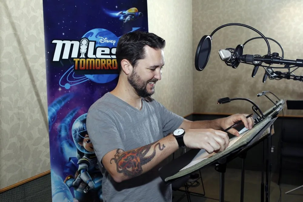 MILES FROM TOMORROWLAND - Will Wheaton recording session. (Disney Junior/Rick Rowell) WIL WHEATON