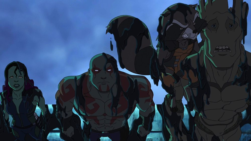GAMORA, DRAX THE DESTROYER, ROCKET RACCOON, GROOT