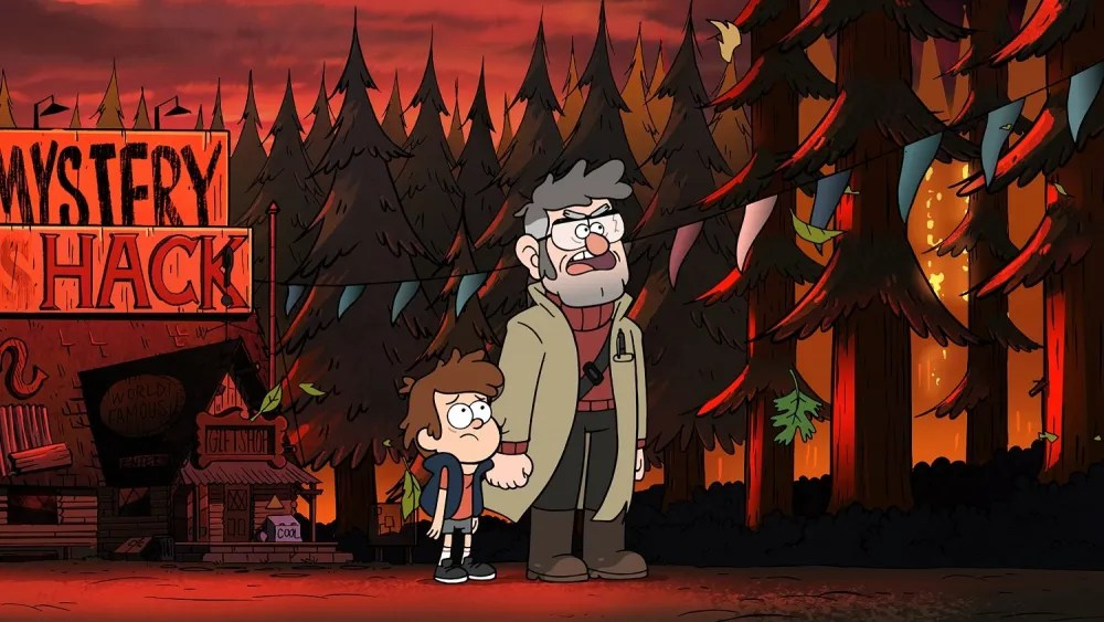 "GRAVITY FALLS - ""Weirdmageddon, Part I"" - Episodic stills. (Disney XD) DIPPER, FORD"