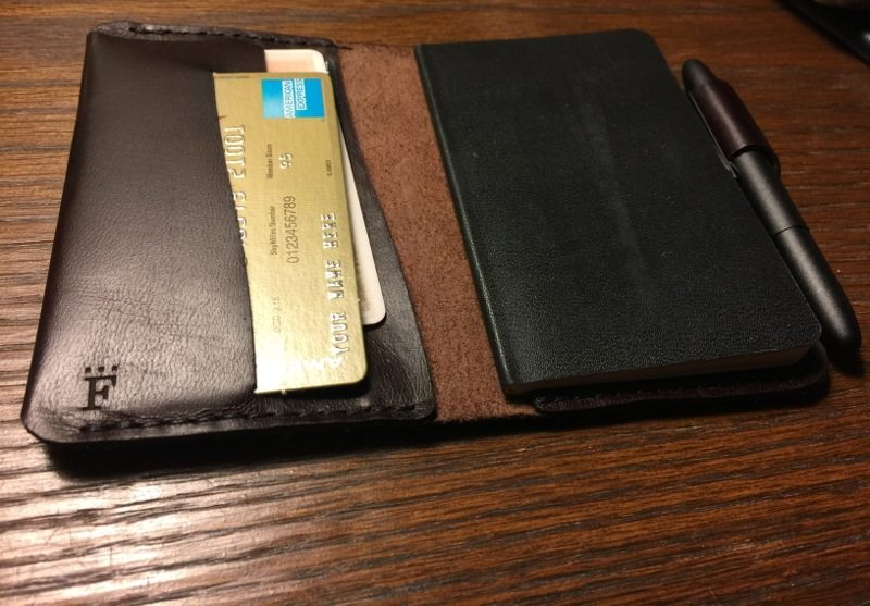(Charette Wallet in Color #8 with a matte black pen - Photo by Skip Owens)
