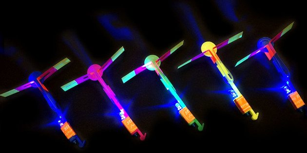 LED Helicopter Shooters 5-Pack