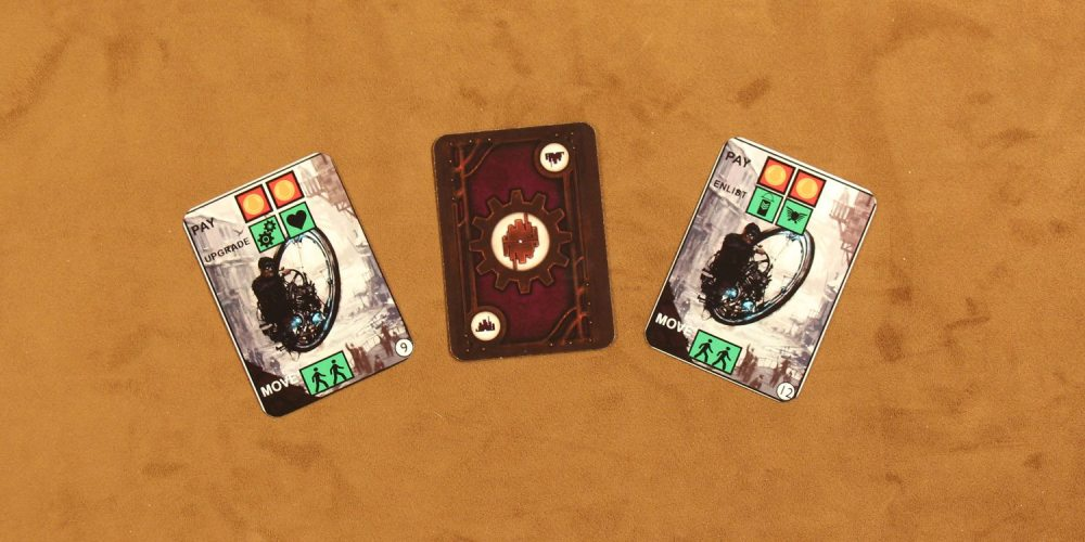 Factory cards. (Components not final.)