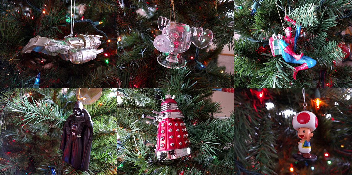 The Marty Moose ornament turned out pretty well, and fits right in.