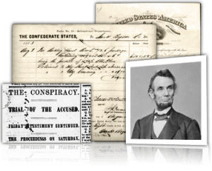 Various papers from the Civil War. Image: Fold3.com