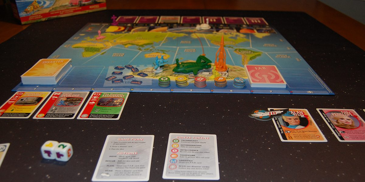 The Thunderbirds game setup and ready to play. Photo by Rob Huddleston.