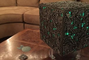 LED Modded Oversized borg Cube