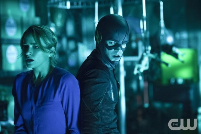 """The Flash -- """"Running to Stand Still"""" -- Image: FLA209A_0288b.jpg -- Pictured (L-R): Shantel VanSanten as Patty Spivot and Grant Gustin as The Flash -- Photo: Cate Cameron/The CW -- �© 2015 The CW Network, LLC. All rights reserved."""