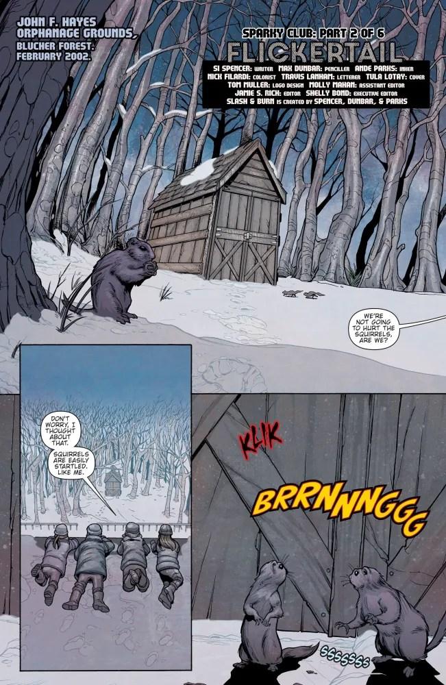 Flashback panel from Slash & Burn #2, image via Vertigo Comics
