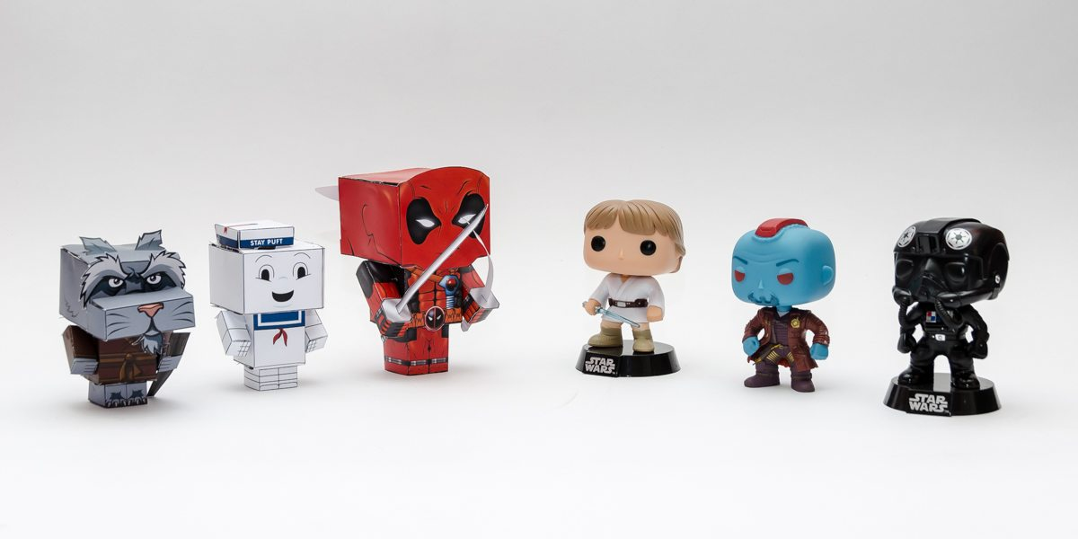 love funko pop make your own 3d figures with cubeecraft