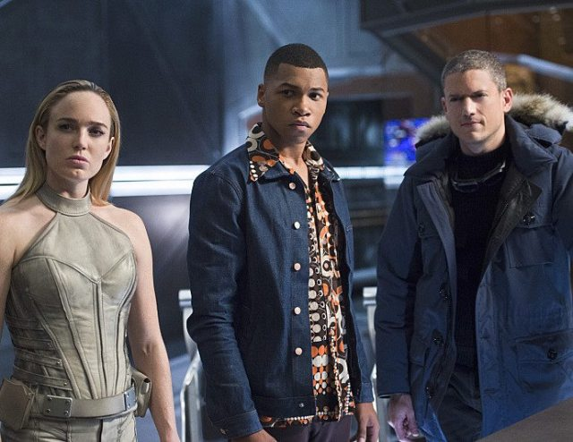"""DC's Legends of Tomorrow -- """"Pilot, Part 2"""" -- Image LGN102_20150930_0230b.jpg -- Pictured (L-R): Caity Lotz as Sara Lance/White Canary, Franz Drameh as Jefferson """"Jax"""" Jackson and Wentworth Miller as Leonard Snart/Captain Cold -- Photo: Diyah Perah/The CW -- �© 2015 The CW Network, LLC. All Rights Reserved."""