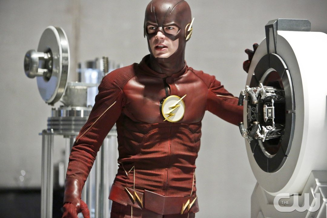 """The Flash -- """"The Reverse Flash Returns"""" -- Image FLA211b_0076b -- Pictured: Grant Gustin as The Flash -- Photo: Bettina Strauss/The CW -- �© 2016 The CW Network, LLC. All rights reserved."""