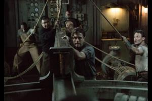 Ray Sybert (Casey Affleck) and the crew of the Pendleton try to keep their half of the oil tanker afloat. Photo © Disney.