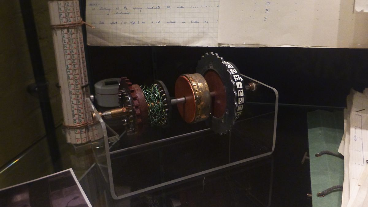 A roto from an Enigma machine.