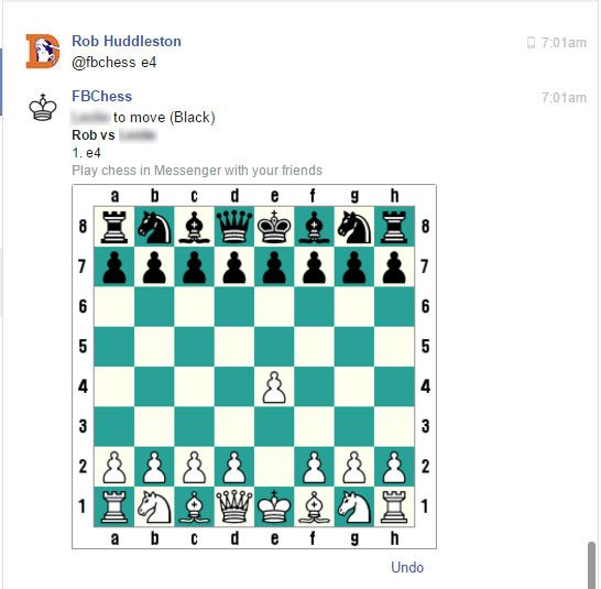 Making a move in Facebook Chess. Image by Rob Huddleston.