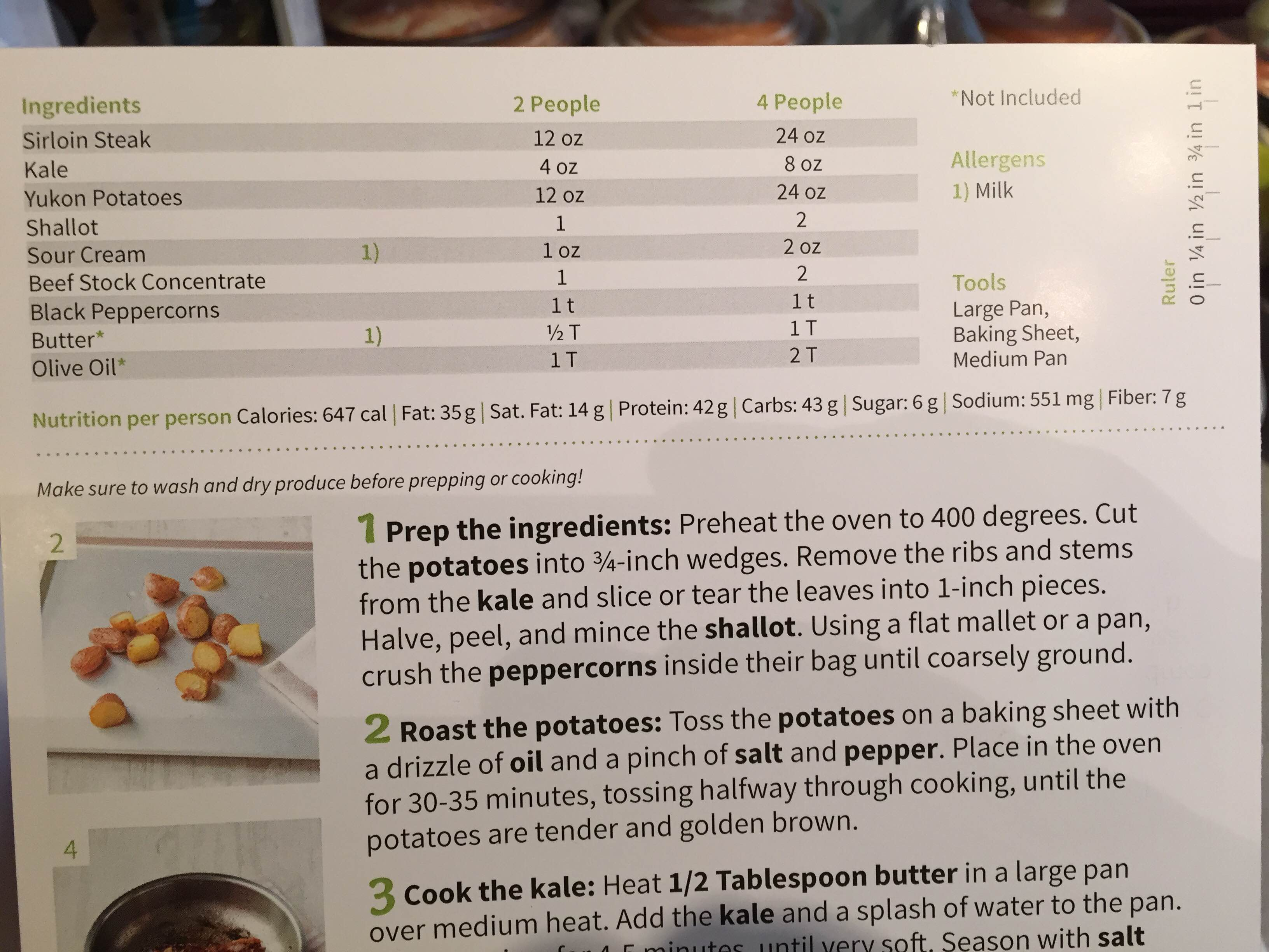 hello fresh review recipe card