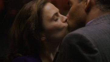 That's two kisses for Wiles/Peggy. Image via ABC/Disney