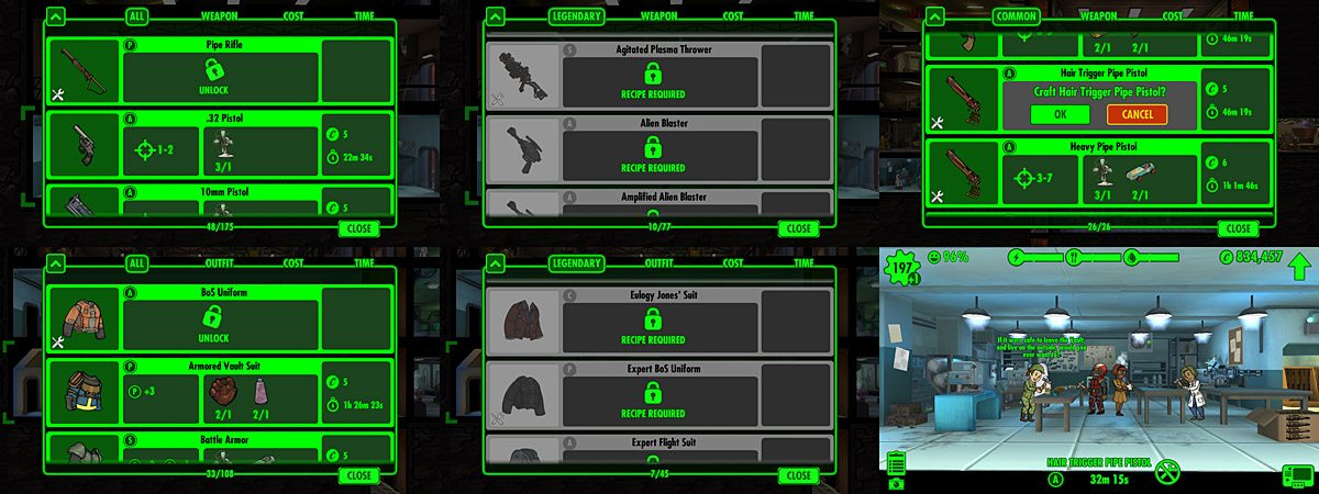 Fallout Shelter Can T Craft Legendary Weapons