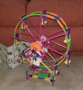 Ferris wheel fully built