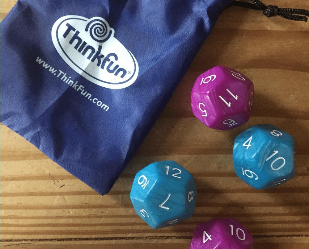 ThinkFun, math dice, math dice chase, math games, math skills, mental math, education, parenting, play, homeschool, homeschooling , games