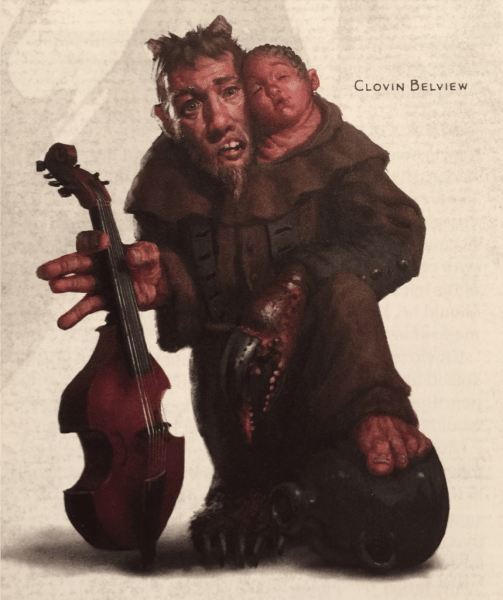 The NPC standout? Clovin, a mongrelfolk musician. Image: Wizards of the Coast