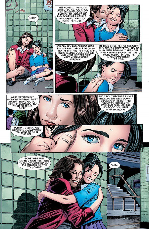 Young Harper and her mom, Batman & Robin Eternal #26, copyright DC Comics