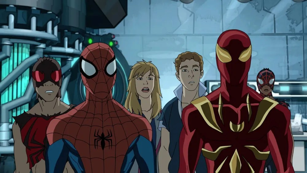 "MARVEL'S ULTIMATE SPIDER-MAN VS. THE SINISTER 6 - ""Lizards"" - Vulture's revelation that Doc Ock has a spy inside S.H.I.E.L.D. Academy leads the Web Warriors on a hunt to find the mole. This episode of ""Marvel's Ultimate Spider-Man VS. The Sinister 6"" airs Sunday, March 13 (9:00 - 9:30 A.M. EDT) on Disney XD. (Marvel) SCARLET SPIDER, SPIDER-MAN, JEMMA SIMMONS, LEO FITZ, IRON SPIDER, MILES MORALES"