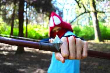 Arrow focus. Photo by Sarah James.