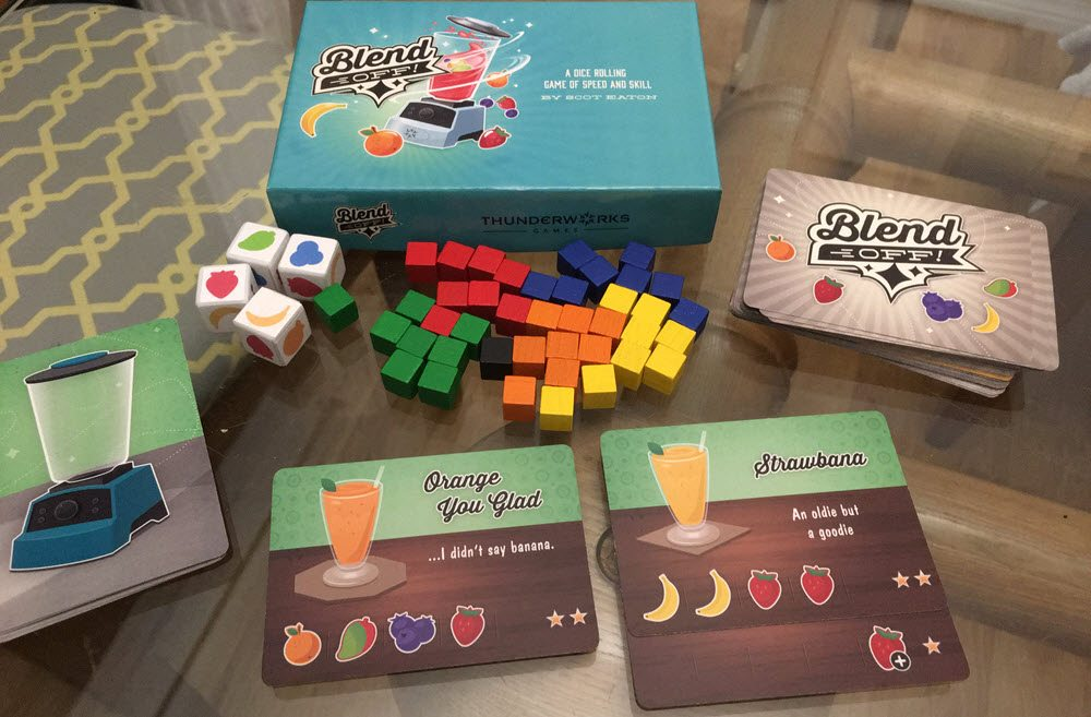 The prototype game and box (Image by Anthony Karcz)