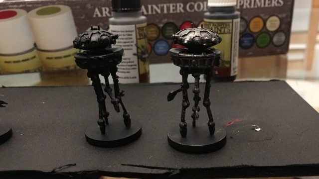 Imperial Assault Probe Droids Drybrushed